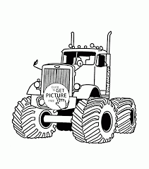 Monster Truck Very Large Coloring Page