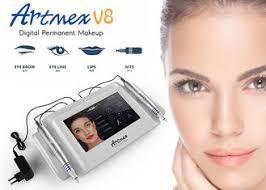 aluminum case 2 handpieces tattoo permanent cosmetic makeup eyebrows machine