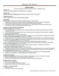 Objective For Nursing Student Resume Student Nurse Resume