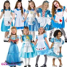 girls alice story fairytale wonderland book day character fancy dress costume
