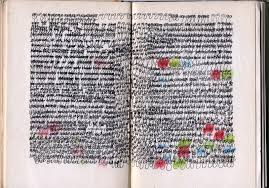 book pages are drawings from an ongoing altered book series in this cur altered book material is a primary stimulus for imagination creativity