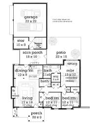 13 best one story homes images on pinterest ranch house plans Simple Cottage House Plans 1292 sf first floor plan image of clifton 1224 house plan simple cottage house plans small