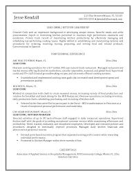 Cook Resume Sample Essayscope Com