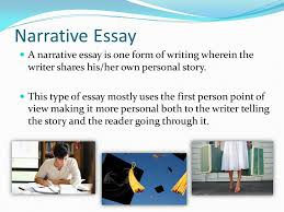 elements of a narrative essay ppt video online  narrative essay a narrative essay is one form of writing wherein the writer shares his
