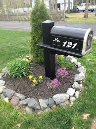 landscaping around mailbox post. Landscaping Around Mailbox Post Use A Fancy Font On Your Computer To Trace And Paint House Number Standard Old Like Million