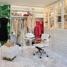 desk in walk in closet. Plain Closet Lucite Desk In Front Of Built In Dressers And Walk Closet L
