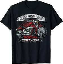 My Kind Of Social Distancing Funny Motorcycle Biker ... - Amazon.com
