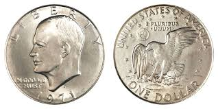 1971 D Eisenhower Dollar Type 2 Common Reverse Coin Value