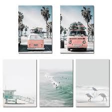 <b>sea</b> beach landscape <b>nordic poster</b> wall <b>art</b> canvas prints home ...