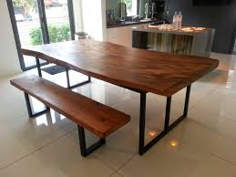 wood dining tables. Suar Wood Dining Table With Metal Legs 220x100x78cm Tables