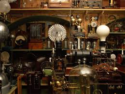 steampunk laboratory wallpaper