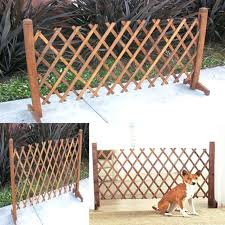 expanding pet gate portable wooden fence garden kid safety dog lawn patio metal