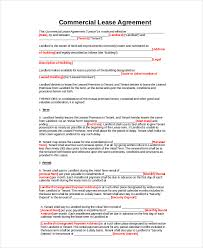 Lease Agreement Word Template Adorable Commercial Property Rental Agreement Template Mesotraining