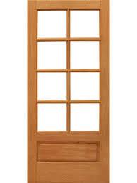 8 lite interior brazilian mahogany 1 panel ig glass single door regarding interior glass panel door