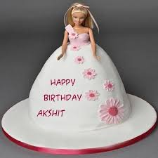 Amazing Barbie Doll Happy Birthday Cake With Name Image Latest