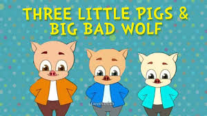 three little pigs and the big bad wolf fairy tales animated cartoon stories for children you