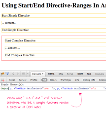 Using Start/End Directive-Ranges In AngularJS 1.2