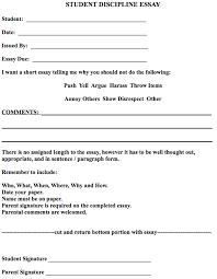 essay about discipline detention student discipline essay