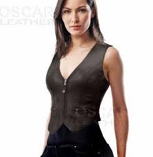 las fashion leather vest tour women vest