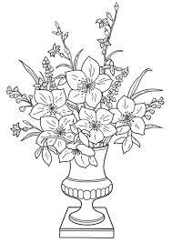 Kleurplaat Lelies In Vaas Afb 11340 Images