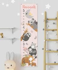 Woodland Growth Chart Lmt Creative Woodland Personalized Growth Chart