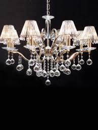 zonda brass 8 light crystal chandelier