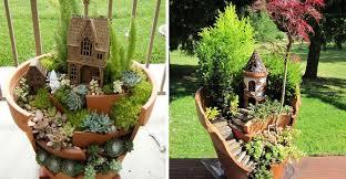 broken pots fairy garden 1024x532