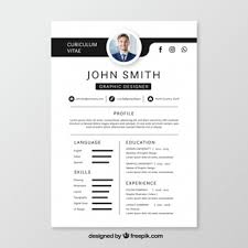 download cv black and white cv template psd file free download