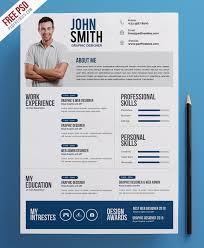 Creative Resume Cv Psd Template Uxfree Com