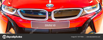 BMW i8 logo front view banner background – Stock Editorial Photo ...