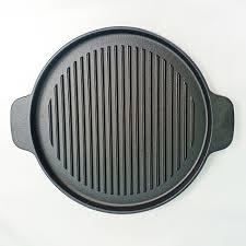 CHẢO NƯỚNG TRÒN RAPIDO 26CM - Chảo Gang dùng trên mọi loại bếp và lò nướng