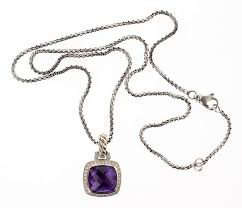 david yurman sterling silver vintage necklace albion amethyst pendant by billy the kid auction house 1002298 bidsquare