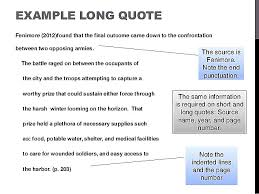 Quote Apa Format Best How Do You Quote In Apa Format Piqqus
