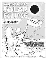 A solar eclipse occurs when the sun, earth, and moon are in alignment and the moon covers the sun. Solar Eclipse 2017 Free Online Coloring Page Coloring Books