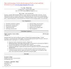 Pleasing Entry Level Flight Attendant Resume Vibrant Resume Cv