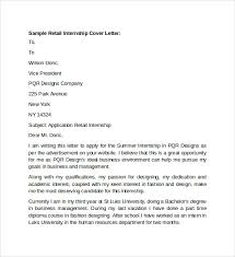 Gallery Of Sample Retail Cover Letter Template 9 Download Free