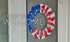 craft project diy patriotic wreath