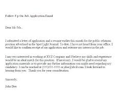 Folow Up Letter Resume Follow Up Letter Sample Resume Follow Up Letter