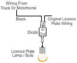 trailer tow bar wiring diagram for towing optional license plate trailer wiring