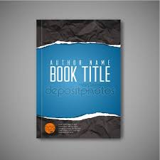 blue book cover template stock vector