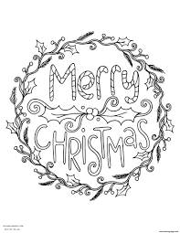 Christmas Wreath Coloring Pages Awesome At Bitsliceme