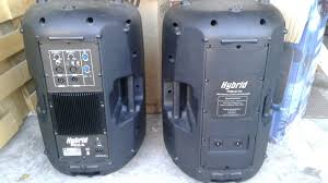 speakers 12 inch. set of hybrid 12 inch powered active and passive speakers
