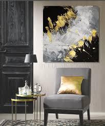 grey gold black art elegant wall art