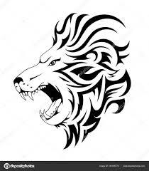 татуировка лев знак зодиака лев тату дизайн векторное изображение