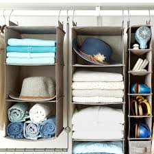 Grey 3-Compartment Hanging Sweater Organizer ...