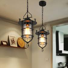 warehouse style lighting. Retro Indoor Lighting Vintage Pendant Lights Iron Cage Lampshade Warehouse Style Light Lantern Loft Lamp-in From \u0026 On T