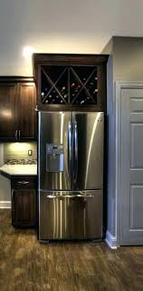 wine rack cabinet above fridge. Refrigerator Wine Rack Above Fridge For Bush Freezer Gallery A Red River Built . Cabinet