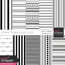 Stripe Templates Stripe Paper Template Kit 11 20 Pixelscrapper Pinterest