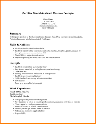 Dental Assistant Resume Objective Berathen Com