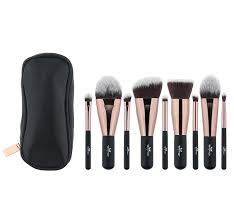anmor lovely travel makeup brush set synthetic mini makeup brushes with bag mbc03 cosmetic brush make up tools kit makeup primer makeup sets from